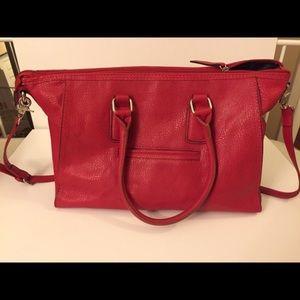 Handbags - Red Large Tote Shoulder Bag